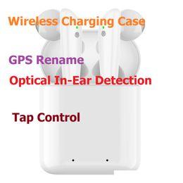Últimas Pods 2 TWS fones de ouvido Bluetooth com o carregamento sem fio Caso Stereo fones de ouvido janela pop-up Chip Goophone para iPhone 11 Pro Max de