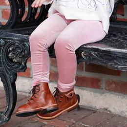 2019 oro delle gambe delle ragazze Vendita al dettaglio 4 colori Leggings per bambini in velluto dorato firmati Pantaloni sportivi aderenti con leggings Pantaloni aderenti Pantaloni boutique per bambini oro delle gambe delle ragazze economici
