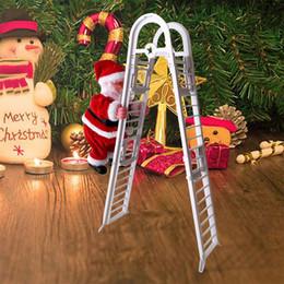Pingente elétrico on-line-Partido Escada de escalada elétrica Papai Noel novidade de Natal Pendant Xmas DIY ornamento Festival Gag Toy Kid presente LA281