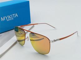 830371e928191 Nova qualidade superior MASAO Mykita quadro ultraleve sem parafusos  elástico Inoxidável moda feminina óculos de sol dos homens óculos de sol  Com Caso ...