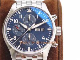 Schweizer chronograph automatisch online-ZF Luxus Herrenuhr Chronograph Edition Le Petit Prince 377717 V2 Edelstahl Blaues Zifferblatt Swiss 7750 Automatik 28800vph Saphirglas