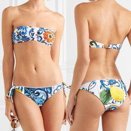 35607806a307f New Style Womens High Waist Print Bikini Set Swimwear Beach Swimsuit  Bikinis 2019