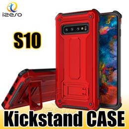 samsung galaxy e5 telefon fällen Rabatt Hybrider Rüstungs-Ständer-Telefon-Kasten für iPhone 11 Pro-maximales Samsung-Galaxie-Anmerkung 10 S10 plus S10E M10 A70 Huawei Mate20 MOTO E5