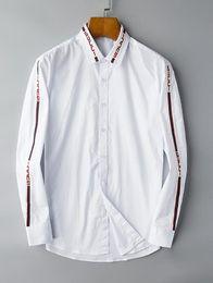 camisas da flanela do desenhista Desconto 2018 marca americana de negócios de auto-cultivo camisa xadrez, designer de moda marca de manga comprida de algodão camisa casual listrado co-dress shirt 01