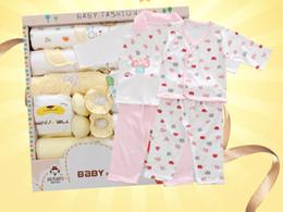 18 Sätze Baumwolle Neugeborenen Anzug Kleidung Baby Kleidung Frühling Neugeborenen Geschenkbox Mutter und Kind liefert Vollmond Babyanzug von Fabrikanten