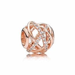 Canada De luxe 18 K or rose creusé Galaxy Charm Set Original Box pour Pandora DIY Bracelet CZ Diamant Perles Charmes Bijoux accessoires Offre