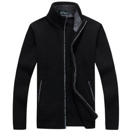 2020 homens inverno camisola pele Outono Inverno Camisola dos homensCasaco Faux Fur Wool Sweater Casacos Homens Com Zíper De Malha Casaco Grosso Quente Malhas Casuais M-3XL homens inverno camisola pele barato