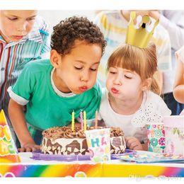 6Pcs Paper Kids Adult Birthday Hats Cap Crown Prince Princess Party Decoration