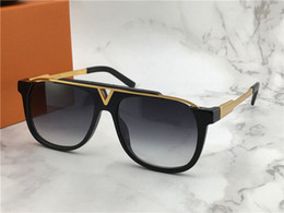 Carátulas de lentes online-Louis Vuitton LV0937 Gafas de sol Moda Mujeres Deisnger Popular Full Frame UV400 Lens Summer Style Big Square negro Color Big Face Come With Case