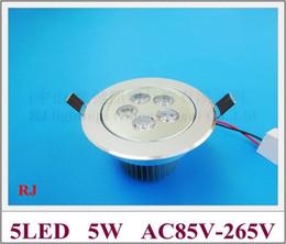 Canada LED spot spot 5W LED downlight encastrable au plafond lampe AC 85-265V 450lm deux ans de garantie livraison gratuite Offre
