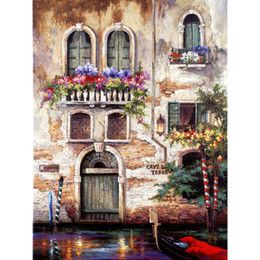 hand painted garden Coupons - Hand painted oil paintings garden Landscapes Door to Italy canvas art for wall decor