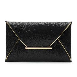 Enveloppes en cuir en Ligne-Baellerry 2019 dames en cuir PU enveloppe Top-Handle Sacs Sparkle Bling soirée soirée pochette sac à main paillettes Glitter sac à main # 252416