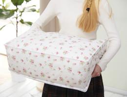 acabamento colcha Desconto Saco de armazenamento de colcha impressa colcha saco grande saco de bagagem de embalagem à prova de umidade-acabamento