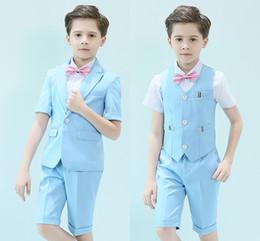 komplette hochzeit Rabatt Hübscher Knopf Knopf Peak Revers Kid Komplette Designer Hübscher Junge Hochzeitsanzug Jungen Kleidung Maßgeschneiderte (Jacke + Hose + Weste)