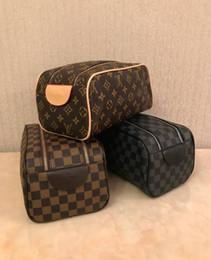 Gli uomini compongono online-borsa donne di modo toilette da viaggio per uomo lavare borsa borsa grande capacità di sacchetti cosmetici make-up da toeletta PouchLouisVuittonA1202