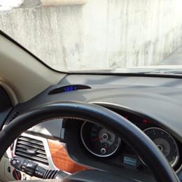 2019 carro levou relógio tempo Nova Multifuncional Preto 12 V LED Luminosa Digital Car Desk Relógio Voltímetro Termômetro Tempo Automotivo Relógios de Mesa Eletrônicos Frete Grátis