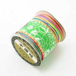braccialetto in nylon Sconti 130m / roll 0,8 millimetri cavo di nylon Filo Nodo cinese Macrame cordone intrecciato DIY della stringa della nappa perline monili che trovano