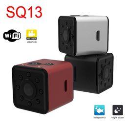 Micro cámara de video a prueba de agua online-WIFI Mini cámara micro cam SQ13 HD 1080 P Video de visión nocturna Grabadora de video Videocámara Sport MINI DV DVR Cámara pequeña a prueba de agua