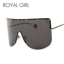 Óculos de pentagrama on-line-Real Girl Fashion Oversized Goggle Sunglasses Mulheres Marca Designer Vintage Sun Glasses Homens Pentagrama Feminino Masculino Shades ss301