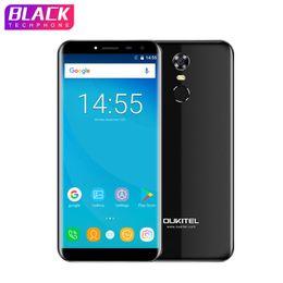 "Oukitel C8 5.5"" 18: 9 Infinity display Android Phone 7.0 MTK6580A Quad Core Smartphone 2G RAM 16G ROM 3000mAh impronte mobile da carta mobile sim più mobile fornitori"