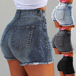 la moda spinge i jeans Sconti Pantaloncini di jeans a vita alta donna Jeans corti donna 2019 New Femme Push Up Pantaloncini di jeans slim skinny Fashion Summer