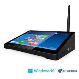 Caixa de televisão quad core 4.4 on-line-pipo x9 Original PIPO X9S 2 GB + 32 GB Quad Core Mini PC Caixa de TV Inteligente Dual OS Windows 10 Android 4.4 Intel Z8350