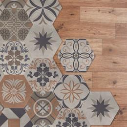 2019 design delle piastrelle della cucina Adesivi per pavimenti Fai da te antiscivolo impermeabile autoadesivo bagno piastrelle della cucina decalcomanie camera carta da parati autoadesiva per bambini design delle piastrelle della cucina economici