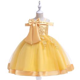 Ropa para niños bebés 2019 vintage Vestidos de flores para niños niños Vestidos de fiesta Vestidos de princesa fiesta del desfile vestido TuTu falda niño desde fabricantes