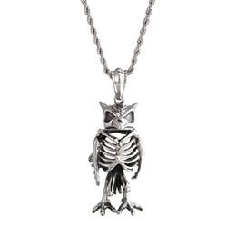 Подвеска из черепа онлайн-Европейские и американские ожерелья из нержавеющей стали для животных, мужские украшения, орлиная голова, череп, титановая сталь, подвеска