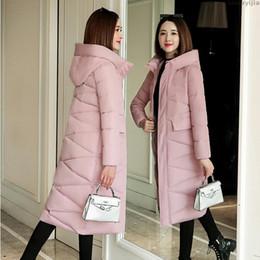 US $27.85 50% OFF|2019 New basic Jacket Women Autumn Winter Short Coats Solid Hooded Down Cotton Padded Slim Warm Pockets Female Jacket Coats|short