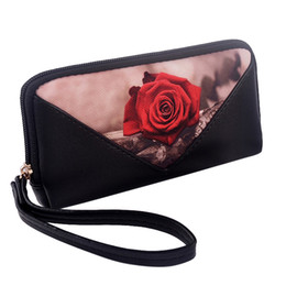e31c3d6785 rose gold clutch bag Promo Codes - New Arrival Women Wallets Soft PU  Leather Rose Floral