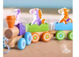 Brinquedos antigos on-line-Novo educacional infantil início da montagem de animais trem brinquedo 1-2-3-6-year-old baby building block car