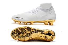 2019 calzature di calcio all'ingrosso Nuovo arrivato oro bianco all'ingrosso tacchetti da calcio Ronaldo CR7 originale scarpe da calcio Phantom VSN Elite DF FG scarpe da calcio sconti calzature di calcio all'ingrosso