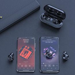 fones de ouvido de óculos de sol Desconto TWS Bluetooth sem fio fone de ouvido Touch Control Earbuds 9D Waterproof Stereo Music Headset 300mAh Power Bank para IOS Android