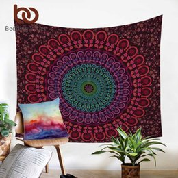 2019 lastre di orchidee BeddingOutlet Hippie Boemia Tapestry Mandala ARAZZO 200 centimetri microfibra lenzuolo Soft Wall Carpet 2017