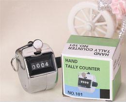 счетчики счетчиков Скидка Metalic счетчик Tally руки Clicker номера 4 чисел для гольфа G436