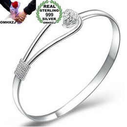 Argentina OMHXZJ Venta al por mayor de moda de mujer de niña europea regalo de boda del partido Sakura de tamaño variable S999 brazalete de plata esterlina BA12 Suministro