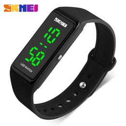 2020 einfache digitale sportuhr SKMEI Frauen Sportuhr Mädchen übersichtliches Design LED-Uhr-Dame Digital-Armbanduhr 30M Wasserdicht Relogio Feminino 1265 günstig einfache digitale sportuhr