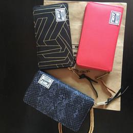 borse della borsa della tela di canapa Sconti Herschel Brand Designer Porta carte di credito Portafogli Uomo e donna Portafoglio di lusso Borsa di tela Moda Unisex Breve Coin Pocket Card Card