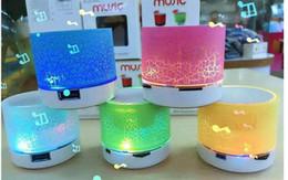 novos oradores cool Desconto Alto-falante sem fio LEVOU Bluetooth Speaker A9 Subwoofer Estéreo HiFi Player para IOS Android Telefone Móvel Mini Speaker Suporte TF cartão + Caixa De Varejo