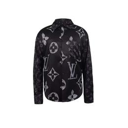 herren-designer-shirts Rabatt Designer Slim Fit Hemden Medusa Men = 2019ss 3D Gold Blumendruck Herren Hemden Langarm Business Freizeithemden Männliche Kleidung