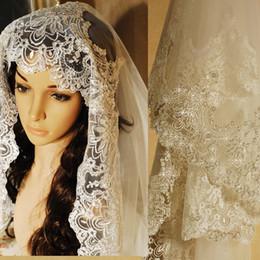 véu de mantilha Desconto Em estoque 2019 branco do casamento véu 3 m com pente rendas lantejoulas frisada mantilha véu de noiva acessórios do casamento veu de