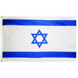israel flags Coupons - free shipping wholesale direct factory price 100% Polyester 3x5fts 90x150cm ISR IL israel flag For Decoration