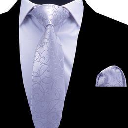2020 i nozze legano le tasche quadrate RBOCOTT Floral Ties Cravatta uomo cravatta set bordeaux rosso blu cravatta argentata 8cm cravatta collo tascabile set per uomo Nozze sconti i nozze legano le tasche quadrate