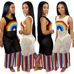 Wholesale Venta al por mayor vestido de playa para mujer cómo cortar vestido de dos piezas ropa de playa sexy monos de moda vestido sin tirantes cómodo encubrimientos klw1231