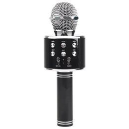 2019 alto-falantes de karaoke Sem fio Bluetooth Karaoke Ws858 Microfone Alto-falante portátil de Karaoke Mic Speaker Máquina Cantando Hospedando Ktv Ws 858 Bla desconto alto-falantes de karaoke