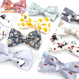 Tierdruck fliege online-Herren einstellbare formale 100% Baumwolle Vintage Animal Print Fliege Schmetterling Bowtie Smoking Bögen Bräutigam Prom Party Zubehör