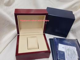 Relojes de buceo de alta calidad online-De lujo de alta calidad UN 1846 reloj cronómetro buceo profundo caja original papeles cajas de madera bolso para Swiss Marine 263-10-3 / 93 relojes