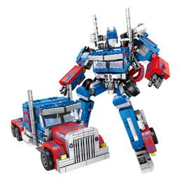 2019 brinquedos para 13 anos meninos 833pcs Criador Optimus Transformação Robôs Car Figura Cidade Blocos Tijolos Brinquedos suportados Legoed Technic Tijolos Brinquedos