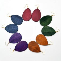 bijoux personnalisés en monogramme Promotion Personnalisé en bois blanc boucles d'oreilles goutte pour les bijoux en bois Costume femmes
